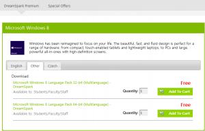 MSDNAA Windows 8 language packs